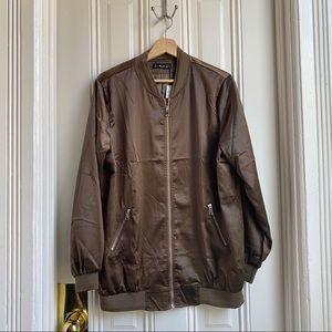 Just Quella Brown Bomber Jacket